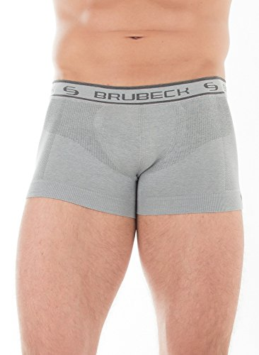BRUBECK® 3x BX10050 COMFORT COTTON Herren Boxer Shorts / Slips | Funktionswäsche | Nahtlos | Formstabil | Atmungsaktiv | Fusselfrei graphit