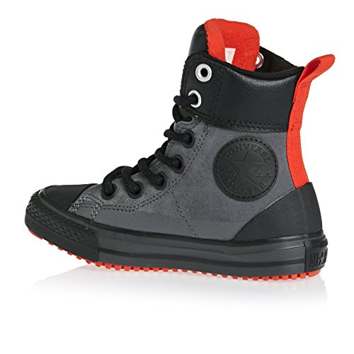 Converse Chuck Taylor All Star Weatherized Asphalt Junior Parchment Leather Ankle Boots Black