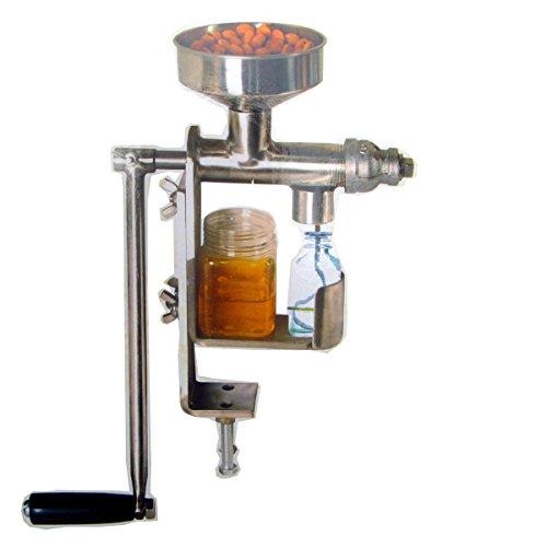 Presse à huile manuelle Eco-Worthy en acier inoxydable résistant pour noix et graines