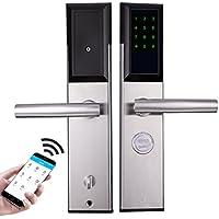 QXX Teléfono móvil Remote Bluetooth App Desbloqueo Alquiler de Apartamentos Seguridad Puerta Cerradura Office Home Smart