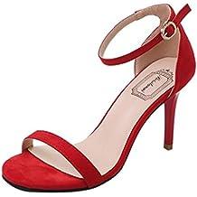 LUCKYCAT Prime Day Amazon, Sandales d été Femme Chaussures de Été Sandales  à Talons aadceb04682d