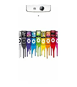SERIES OF I PODS PAINTED IN A FLUIDIC DRIPPING PAINT 3D Hard Polycarbonate Designer Back Case Cover for Oppo N1
