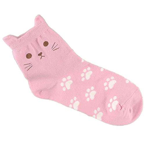 Honestyi Women Socks - Winter Socks - Fashion Socks, Cat Footprints Socks Cute Women's Fashion Cotton Tube Socks - Cotton