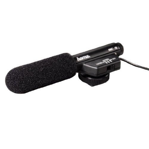 Hama Richtmikrofon für Camcorder, Spiegelreflex- und Systemkameras, Umschaltbare Richtcharakteristik, RMZ-16, Schwarz