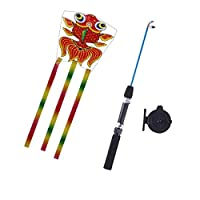 Balain Classic Toys Games Models fishing rod kite - goldfish