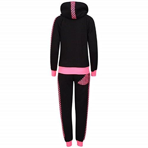 Sugerdiva - Robe - Moulante - Femme Noir noir 23-46 noir/rose