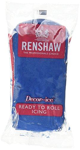 Renshaw Pâte à Sucre Bleu Poudre 250 g - Lot de 5