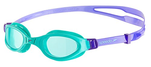 Speedo Kinder Futura Plus Junior Goggles, Violet/Speamint, One Size