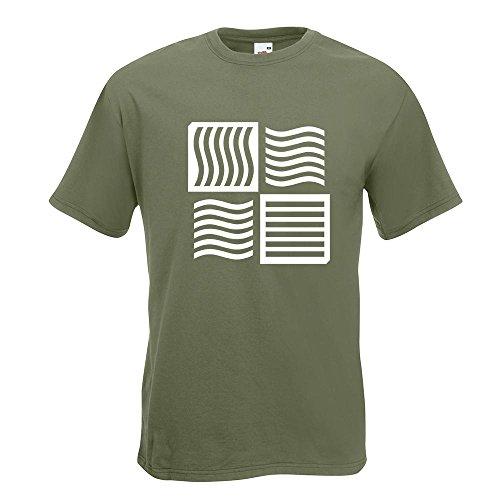 KIWISTAR - The Fifth Element logo T-Shirt in 15 verschiedenen Farben - Herren Funshirt bedruckt Design Sprüche Spruch Motive Oberteil Baumwolle Print Größe S M L XL XXL Olive