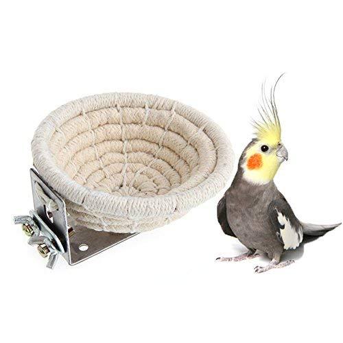 nest aus Baumwolle für Vögel, Bett für Wellensittiche, Sittiche, Nymphensittiche, Kanarische Finken, kleine Papageien, Nistkasten ()
