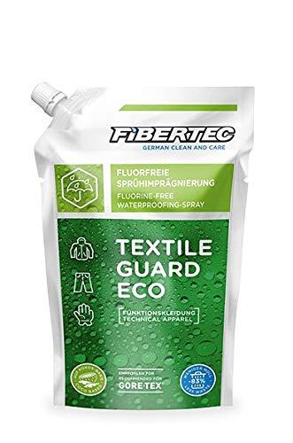 Fibertec Textile Guard Eco Imprägniermittel, ökologische Textil-Imprägnierung 500ml, Nachfüllbeutel