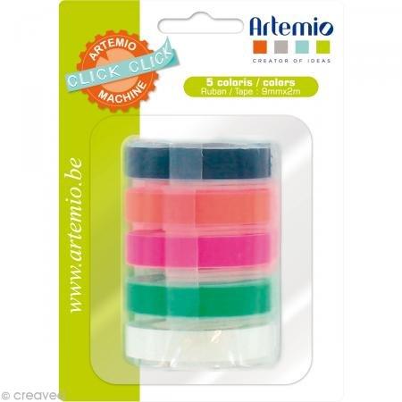 Artemio Click Click Bänderset für Label Maker 5 Stück