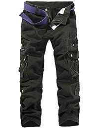 HerZii Men's Camouflage Cargo Trousers Combat Winner Lining Warm Cargo Cotton Casual Pants
