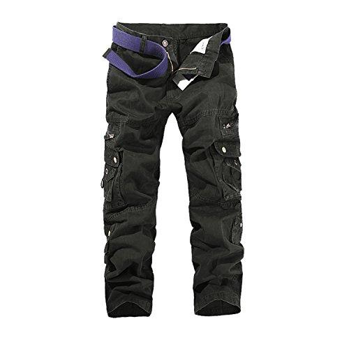 AYG Fit recta carga pantalones casuales pantalones