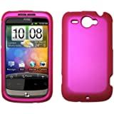 HTC Wildfire G8 GSM Hot Pink Rubberized Hard Cover Crystal Case
