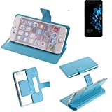 K-S-Trade Flipcover für Hisense A2 Schutz Hülle Schutzhülle Flip Cover Handy case Smartphone Handyhülle blau
