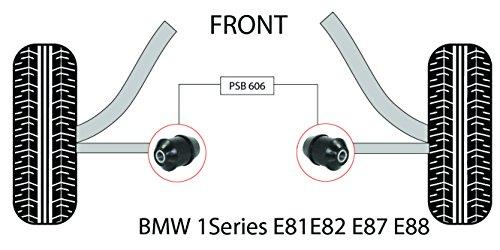 PSB polyuréthane Bush Série 1 E81/E82/E87/E88 inférieur avant bras (aluminium) bushing kit 2007-2012 (Psb606)