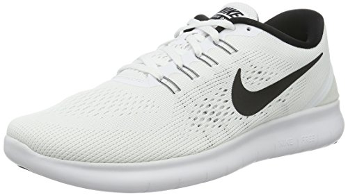 Nike Free Run, Chaussures de Running Entrainement Femme Blanco (White / Black)