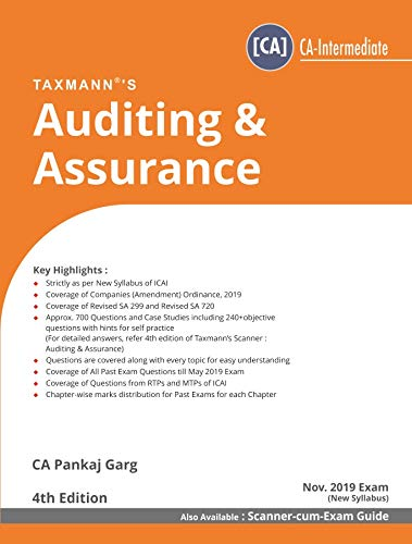 Auditing & Assurance (CA-Intermediate)(For Nov 2019 Exam-New Syllabus)(4th Edition June 2019)