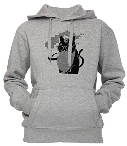 Erido Schnurrhaare Und Rohr Unisex Herren Damen Kapuzenpullover Sweatshirt Pullover Grau Größe S Men's Women's Hoodie Grey Small Size S