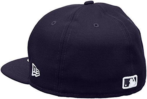 New Era Erwachsene Baseball Cap Mütze Mlb Basic NY Yankees 59Fifty Fitted Weiss/Lila / New-York-Yankees