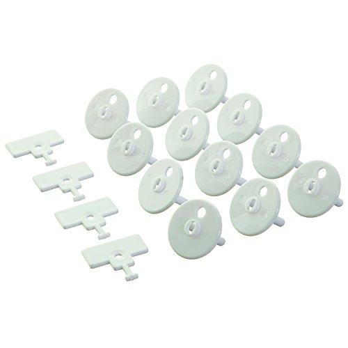 Dreambaby G899 Steckdosensicherung Steckdosenschutz Kindersicherung zum Einstecken mit Schlüssel Set