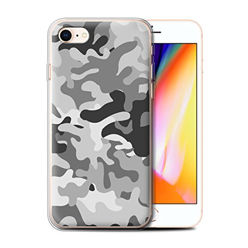 Stuff4 Gel TPU Hülle / Case für Apple iPhone 7 / Weiß 2 Muster / Armee/Tarnung Kollektion Weiß 1