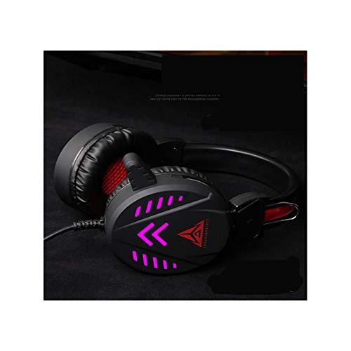 Gaming Headset Bass Stereo Over-Ear Gaming Kopfhörer mit Mikrofon und Lautstärkeregler kompatibel mit PS4, Xbox One, Xbox One S, Xbox One X, Nintendo Schwarz 2 (4-pol-stereo-splitter)