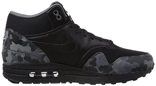 Nike Air Max 1 Mid Fb, Baskets mode homme Noir (Black/Black/Cool Grey/Ivory 001)