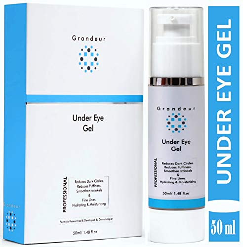 Grandeur Under Eye Cream Gel For Dark Circles, Puffiness, Fine Lines, Wrinkles and Bags- 50ml   Anti Ageing   Even Skin Tone  