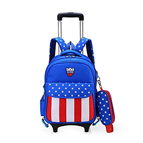Lightweight Wheeled Travel Bag - Kingwo Wheeled Backpack Detachable Freewheel Wheeled Backpack For Learning, Shop,