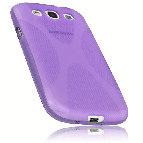 e für Samsung Galaxy S3 i9300 / S3 Neo Silikon Tasche Hülle - Silicon Protector Schutzhülle halbtransparent lila ()