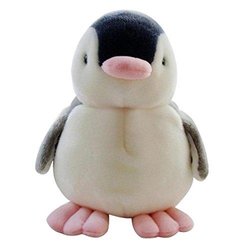 Animal Kid poupée, Y56Pingouin bébé doux en peluche chantant en peluche animé Animal poupée Cadeau pour Kiids (avec un nœud, 26cm)
