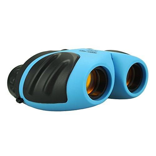 Binocular Kids, DMbaby Compact Watreproof Binocular Teen Boy Birthday Presents Gifts Boys Toys 3-12 Light Blue DL08