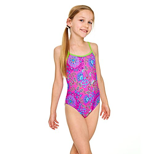 Zoggs Girls' Bold Baroque Yaroomba Floral Swimsuit