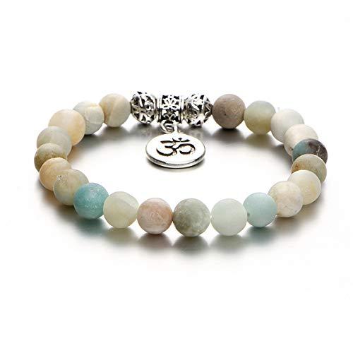 Beiswin Yoga Perlen Hand Armband Handmade Türkis Charm Armband Fußkettchen für Schmuck Zubehör für Männer, Frauen (Stil 2)