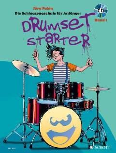 Drumset Starter 1 - arrangiert für Schlagzeug - mit CD [Noten / Sheetmusic] Komponist: Fabig Joerg