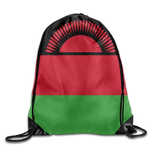 ZHIZIQIU Flag of Malawi Funny Gym Drawstring Bags Travel Backpack Tote School Rucksack