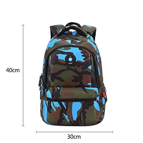 Camouflage Kinder-Rucksack, Schultasche, Reiserucksack, Damen, Blue small (Rosa Rucksack Reebok)