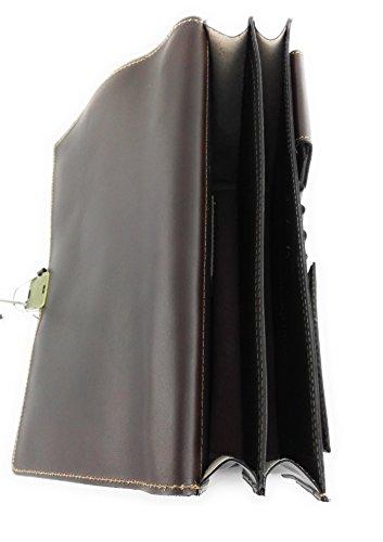 Zerimar Sac porte-documents Compartiments multiples Mesures 37,5x9x29 cms Braun