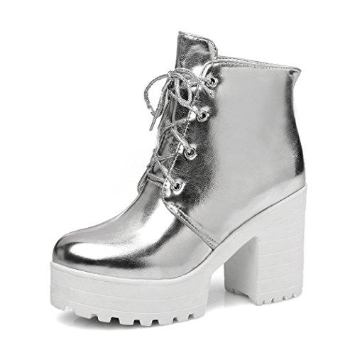 ZQ@QXcadeau de Noël L'Europe et de l'United States Code chaussures bottes tirant avant étanche épais avec de hautes bottes