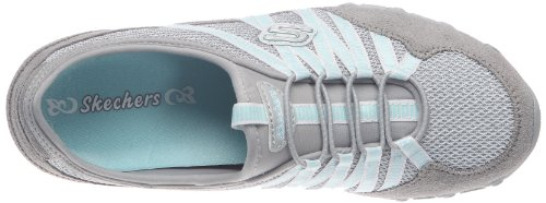 Skechers Bikers Hot-Ticket Bikers-Hot-Ticket WHT, Baskets mode femme Gris clair/bleu