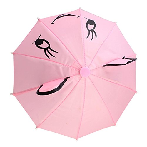 Omiky® Regenschirm Zubehör für 18-Zoll-American Girl / Baby Born Puppen Handmade Outdoor Kinder beste Geschenk (Rosa) (18-zoll-puppe-handy)