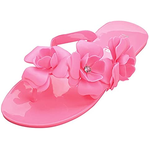 Minetom Donna Camellia Flat Flip Flops Slim Estate Infradito e ciabatte da spiaggia Accessorio Vacanze EUROPE Taglia