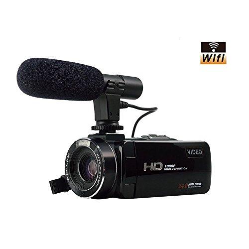 Videokamera Camcorder FHD 1080p 24.0MP WIFI Digitalkamera externe Mikrofon Jack 3.0