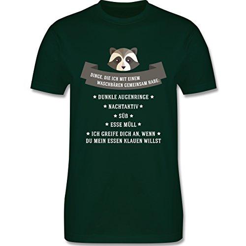 Statement Shirts - Waschbär Gemeinsamkeiten - Herren Premium T-Shirt Dunkelgrün
