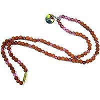 Boho Chic Iridescent Pendant Mala symbol of Serenity and Purity