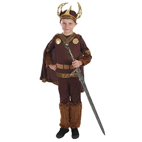 Viking - Disfraz de guerrero vikingo para niño, talla M (6-8 años) (2989-300M)