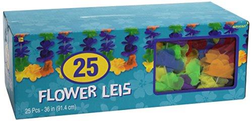Amscan-International-Caja-de-25-guirnaldas-de-flores-hawaianas-de-varios-colores