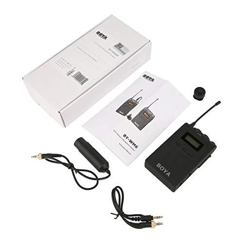 BOYA by-WM6 48 canaux UHF sans Fil omnidirectionnel Lavalier Revers système de Microphone Bodypack récepteur pour caméra vidéo